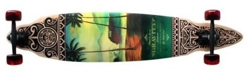 Gravity Pintail Longboard Skateboard
