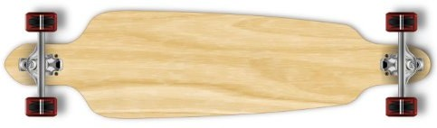 Yocaher drop through complete longboard