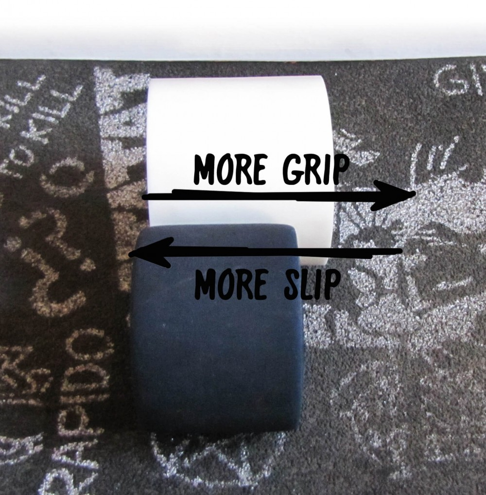 Longboard wheels - more grip, more slip
