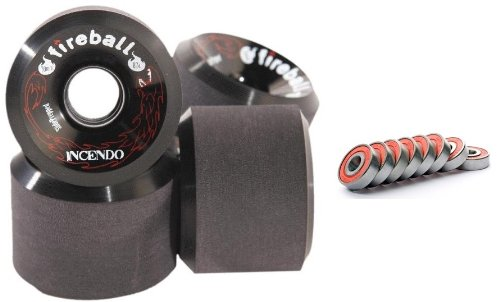 Fireball Incendo Black 70mm 87a Longboard Wheels
