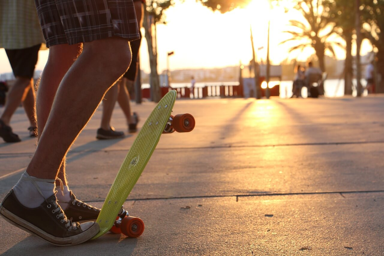 Penny Board and Sunset