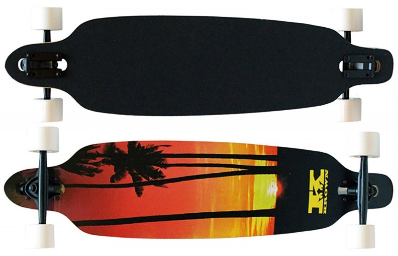 Krown Palm Sunset Drop Through Complete Longboard