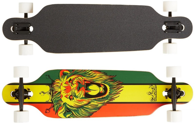 Krown Rasta Lion Freestyle Drop Through Complete Longboard
