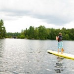 Boy on paddle board