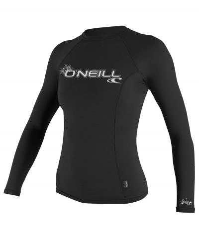 O Neill UV Sun Protection Womens Basic Skins Long Sleeve Rashguard Top