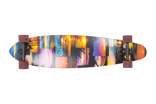 Quest Island Sunset Pintail Longboard