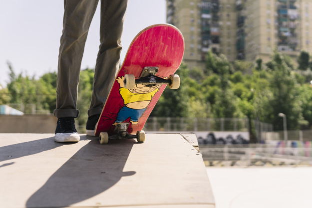 skater with board